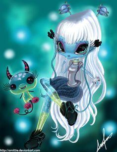 Una Verse is just awesome Done by Paint Tool Sai, Novi Stars, MGA UnaVerse And Molecule Easy Drawings Sketches, Cute Drawings, Skull Drawings, Favorite Cartoon Character, Character Art, Novi Stars, Gothic Fantasy Art, Cute Monsters, Creepy Cute