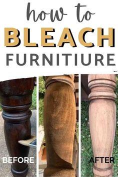 Refurbished Furniture, Paint Furniture, Repurposed Furniture, Furniture Projects, Furniture Makeover, Diy Furniture Legs Ideas, Whitewash Furniture, Diy Furniture Making, Stripping Furniture