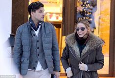 Lovebirds: They were seen on holiday in Switzerland on December 28