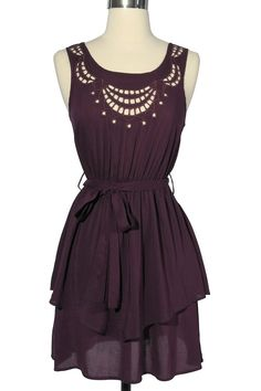 I love the color and lines. Could be a cold or warm weather dress depending on your accessories.