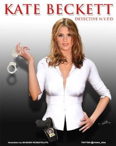 Illustration of Kate Beckett (Stana Katic)