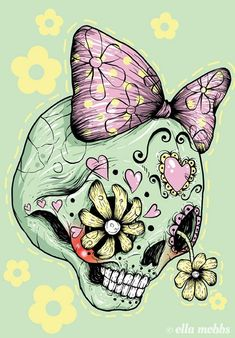 Skull illustrations by Ella Mobbs. Ella is an illustrator and designer from Brisbane, Australia.