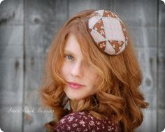 Mini Patchwork Fascinator Hat in Pink and by GreenTrunkDesigns, $40.00