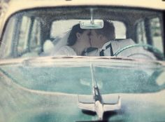 Just Married (By CTR Image Photography). This viewpoint always seems to work best with classic/ older cars with a washed out filtering or post production. As if the viewer is peeking into a stolen moment.