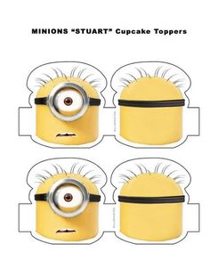 Minions stuart cupcake toppers