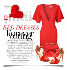 """""""Go for the RED"""" by prim-263 ❤ liked on Polyvore featuring Glamorous, Miss KG, INC International Concepts, women's clothing, women, female, woman, misses and juniors"""