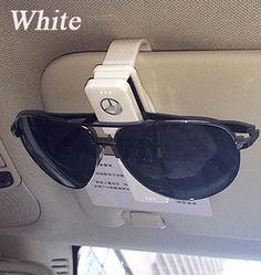 ABS 플라스틱 자동차 안경 홀더 케이스 Muiti 다목적 카드 클립 태양 바이저 클램프 메르세데스 벤츠 GLK/ML/GL/CLA/B/C/E 클래스 시리즈