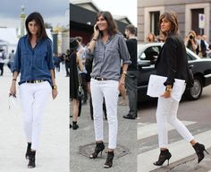 #inspiration: White pants