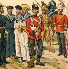 1800's photos of navy men in uniform