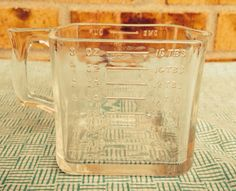 Amazing Vintage Square/Rectangle Glass 1 Cup Measuring Cup on Etsy, $19.95