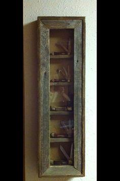 Collector Knife shadowbox display case. $46.00, via Etsy.
