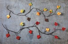 Fall garland with leaves  #lovesaccents
