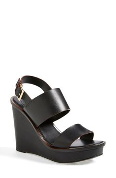 80301c12eb65ba Tory Burch  Lexington  Leather Wedge Sandal (Women) available at  Nordstrom  Black