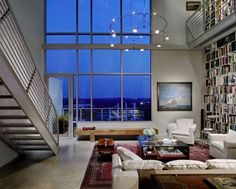Amazing living room with huge windows from the weirdest city in the US: Austin, Texas!