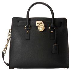 Michael Kors 30S2GHMT3L-001 Women's Hamilton Large Black Saffiano Leat – DiscountWatchStore