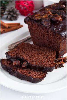 Piernik z powidłami - I Love Bake Catering Food, Sweet Recipes, Sweets, Chocolate, Baking, Cake, Food, Polish Cuisine, Kuchen