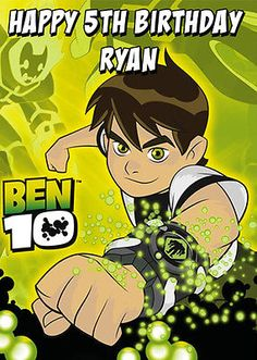 Ben 10 #personalised #birthday card - add your own name & age,  View more on the LINK: http://www.zeppy.io/product/gb/2/171909410879/