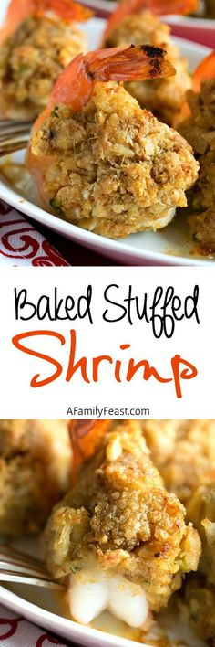 Stuffed Shrimp We're showing you how to make restaurant-quality Baked Stuffed Shrimp at home! showing you how to make restaurant-quality Baked Stuffed Shrimp at home! Seafood Casserole Recipes, Seafood Bake, Seafood Dinner, Shrimp Recipes, Fish And Seafood, Fish Recipes, Appetizer Recipes, Dinner Recipes, Appetizers
