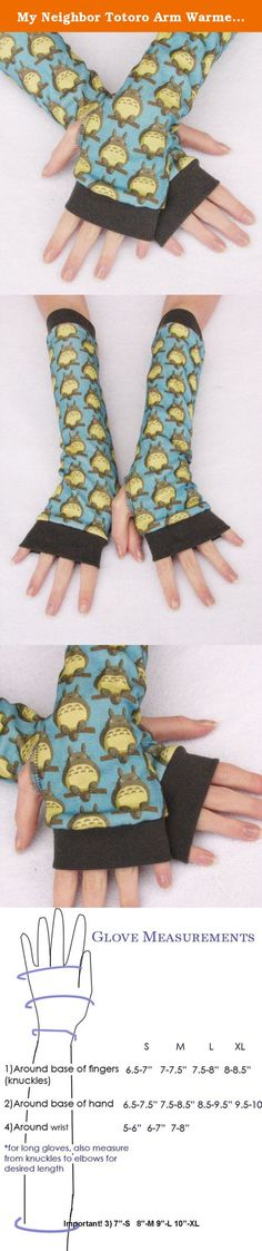 My Neighbor Totoro Arm Warmers Gloves Adult Sizes. Cute My Neighbor Totoro arm warmers. Bright Blue fingerless gloves with gray Totoro's and yellow accents. Fan Art parody print of the wonderful Studio Ghibli character by Artist Snackhappy. Fabric is currently out of print so when this is gone, it's all gone. Too much fun! Sizes for kids and adults available. A fun Mommy and Me design. Sustainable fabric is good for the Earth and Eco Friendly. These are super stretchy, comfy and can be…