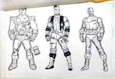 Concept art of Cyborg for Kenner Anti Heroes action figure line
