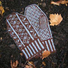Ravelry: Winter Garden Mittens pattern by Diane Mulholland