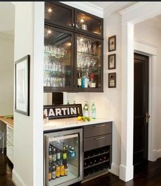 Awesome bar with wine refrigerator