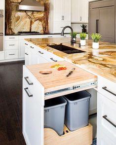 ideas diy kitchen countertops laminate islands for 2019 Diy Kitchen Island, Farmhouse Sink Kitchen, Diy Kitchen Cabinets, Kitchen Cabinet Doors, Kitchen Countertops, New Kitchen, Laminate Countertops, Kitchen Ideas, Awesome Kitchen