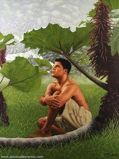 """painting by Steve Walker  """"Jungle Boy"""""""