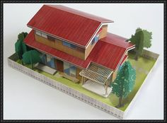 Japanese House V3 Free Building Paper Model Download - http://www.papercraftsquare.com/japanese-house-v3-free-building-paper-model-download.html
