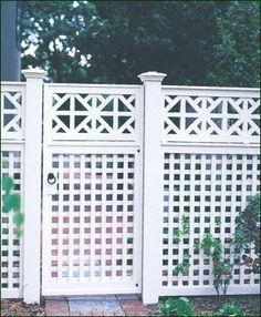 Lattice fence by Walpole Woodworkers