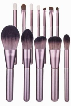 bronzer brush with small grape makeup brush set Makeup Brush Set, Bronzer, Brushes, Number, Beauty, Type, Gray, How To Make, Products