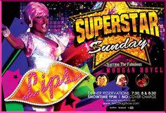 Yummy food and superstar Diva's! Join hostess Morgan Royel Sunday night at LIPS!! Call 212.675.7710 #lipsnyc