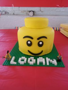 OR make the name in Lego and place on a regular cake Lego Birthday Party, 4th Birthday Parties, Boy Birthday, Birthday Cakes, Birthday Ideas, Lego Cake, Family Birthdays, Occasion Cakes, Cakes For Boys