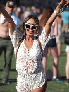Yay crocheted romper! (Renee Shepard, Sales - Coachella 2015)