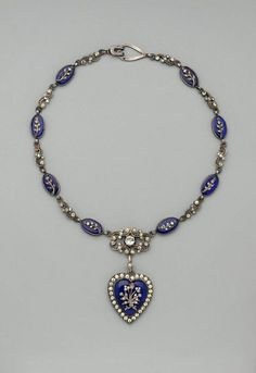 "Necklace with heart pendant, made in the United States, c.1917  ~""Tiffany and Co., New York, Paris, London""  source: www.mfa.org"