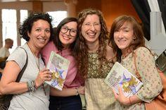 Olga Albaladejo (escritora) y Ana Rello (ilustradora) en la Presentación de Amanda: Diario de una bruja moderna (Secretos de felicidad cotidiana) en la Casa del Libro de Gran Vía en Madrid #secretosdefelicidadcotidiana