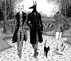 Bast and Anubis Stroll in #CentralPark