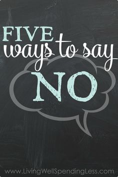 If you are guilty of saying yes too often—and then feeling overwhelmed and stressed out as a result—don't miss these five simple but effective ways to say no without feeling bad or upsetting the people we care about most. The Best Yes, Ways To Say Said, Communication, Learning To Say No, Read Later, Time Quotes, Feeling Overwhelmed, Me Time, Things To Know