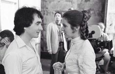 Anthony Daniels and Carrie Fisher