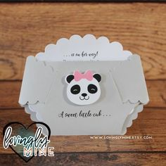 Handmade Invitations, Baby Shower Invitations, Baby Shower Diapers, Baby Boy Shower, Panda Baby Showers, Panda Bebe, Baby Panda Bears, Bear Girl, Diaper Sizes
