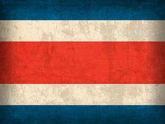 Costa Rica Flag Vintage Distressed Finish