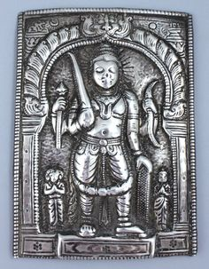 A Silver Repousse Virabhadra Plaque, Western India, 19th century