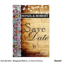 Shop Save the Date - Hungarian Kalocsai Card created by MagicWedding.