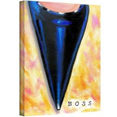 ArtWall Susi Franco Boss Gallery-wrapped Canvas, Size: 24 x 32, Blue