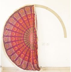 A frame to fix your mandala to a wall ,   mandalalifeart@gmail.com for queries   #wallhanging #tapestry #round