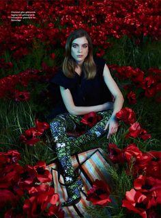 'Flowers of Evil.' Kim Noorda in Balenciaga photographed by Tim Verhallen for Harper's Bazaar Netherlands, May 2017.