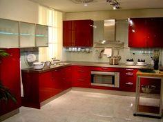 cucine-moderne-ad-angolo-mobili-arancioni-laccati | Architettura ...