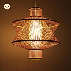 Bamboo Wicker Rattan Plane Shade Pendant Light By Artisan Living - Modern Ceiling Lamp, Hanging Ceiling Lamps, Asian Lighting, Bamboo Chandelier, Bamboo Light, Asian Pendant Lighting, Pendant Light, Light, Pendant Light Fixtures