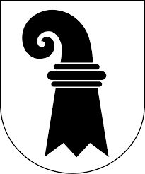 The symbol of the Basel rod or Crooked Basel. Is a curved crook of Bishops.or also a tail of s basilisk - these are dragons with rooster head and snake's tail. Currently used in the flag of the canton and the city of Basel