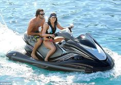 'This place is incredible': Water babies Kendall and Kylie Jenner play on jet skis and kick back on a luxury yacht as they enjoy Kardashian holiday in Mykonos Kylie Kardashian, Brody Jenner, Kendall And Kylie Jenner, Jet Ski, Yacht Vacations, Jenner Family, Mykonos, Santorini, Luxury Yachts